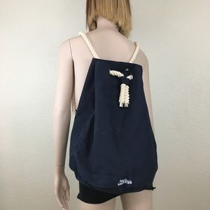 Jean Paul Gaultier Navy Canvas Backpack